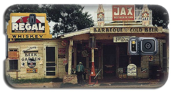 Galaxy S5 Case featuring the photograph 1940 Crossroads Store Bar Gas Station Melrose La by Merton Allen