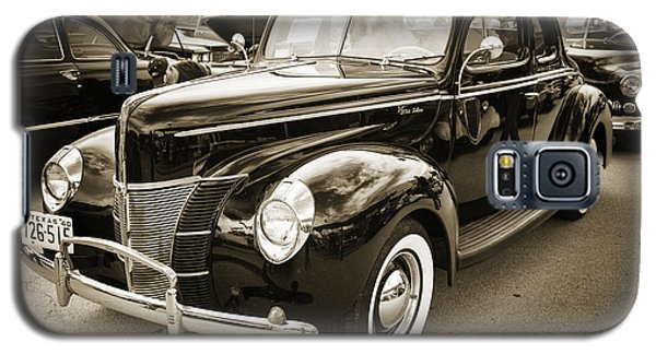 1940 Ford Classic Car Or Antique Automobile Photograph In Sepia  Galaxy S5 Case