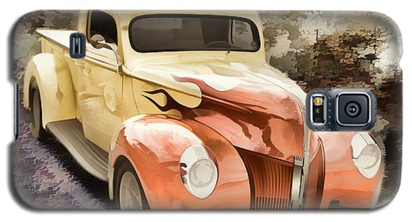 1940 Ford Pickup Truck Painting Car Or Automobile In Color  3133 Galaxy S5 Case