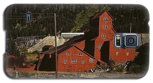Galaxy S5 Case featuring the photograph 1940 Mill Building Camp Bird Mine Colorado by Merton Allen