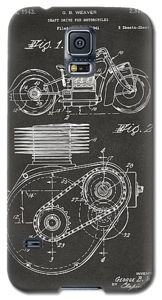 1941 Indian Motorcycle Patent Artwork - Gray Galaxy S5 Case