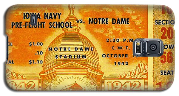 1942 Football Ticket Notre Dame Vs Iowa Navy Pre-flight Galaxy S5 Case