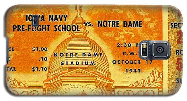1942 Football Ticket Notre Dame Vs Iowa Navy Pre-flight Galaxy S5 Case