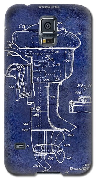 1947 Outboard Motor Patent Drawing Blue Galaxy S5 Case