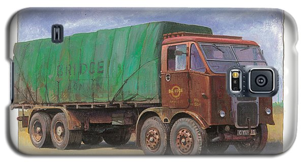 Galaxy S5 Case featuring the painting 1947 Scammell R8 by Mike  Jeffries