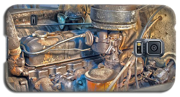 1949 Chevy Truck Engine Galaxy S5 Case by D Wallace