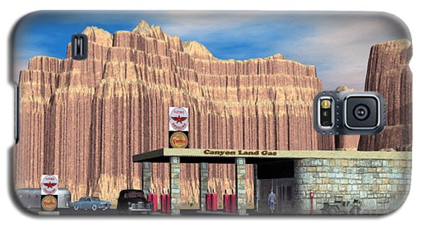 1950 Route 66 Gas Station Galaxy S5 Case