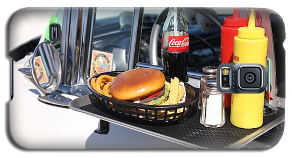 1950's Drive In Movie Snack Tray Galaxy S5 Case by John Telfer