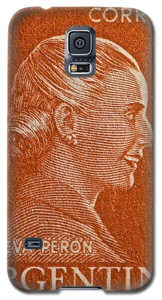 1952 Eva Peron Argentina Stamp Galaxy S5 Case by Bill Owen