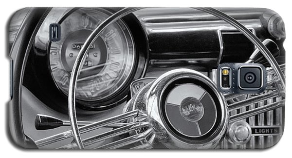 1953 Buick Super Dashboard And Steering Wheel Bw Galaxy S5 Case by Jerry Fornarotto