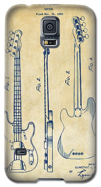1953 Fender Bass Guitar Patent Artwork - Vintage Galaxy S5 Case
