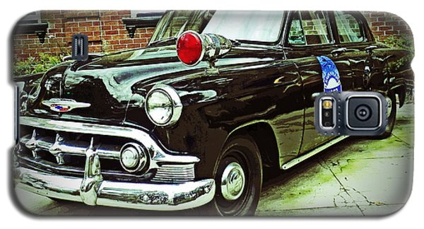 Galaxy S5 Case featuring the photograph 1953 Police Car by Patricia Greer