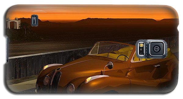 Galaxy S5 Case featuring the digital art 1954 Cabriolet by John Pangia