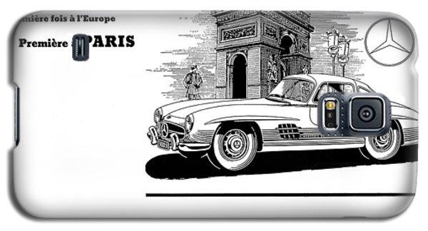 Galaxy S5 Case featuring the digital art 1954 Mercedes Benz by Allen Beilschmidt
