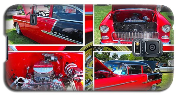 Galaxy S5 Case featuring the photograph 1955 Chevrolet Sedan Collage by Margaret Newcomb