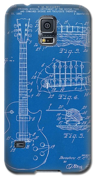 1955 Mccarty Gibson Les Paul Guitar Patent Artwork Blueprint Galaxy S5 Case