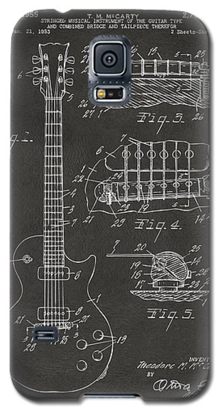 1955 Mccarty Gibson Les Paul Guitar Patent Artwork - Gray Galaxy S5 Case