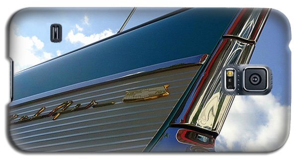 Galaxy S5 Case featuring the photograph 1957 Chevrolet Bel Air Fin by Joseph Skompski