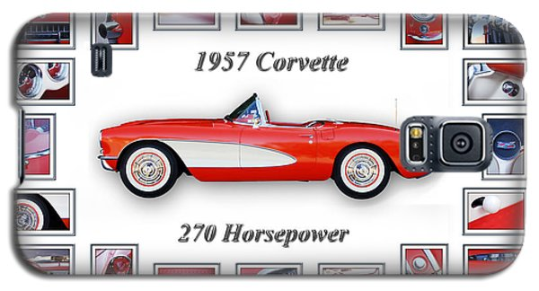 1957 Chevrolet Corvette Art Galaxy S5 Case