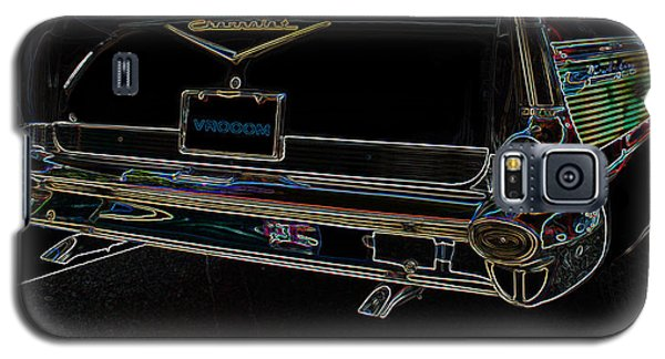 1957 Chevrolet Rear View Art Black_varooom Tag Galaxy S5 Case