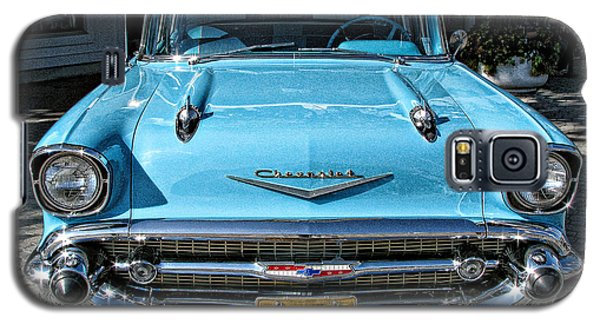 1957 Chevy Bel Air In Turquoise Galaxy S5 Case by Samuel Sheats