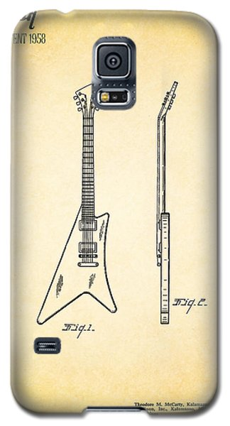 Guitar Galaxy S5 Case - 1958 Gibson Guitar Patent by Mark Rogan