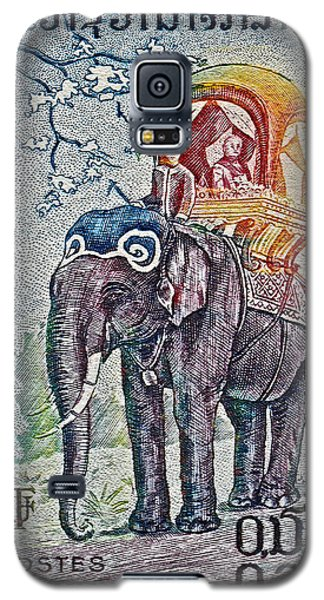 1958 Laos Elephant Stamp Galaxy S5 Case