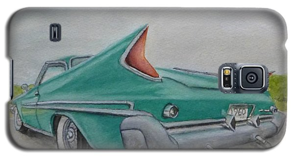 Galaxy S5 Case featuring the painting 1960 Classic Saratoga Chrysler by Kelly Mills