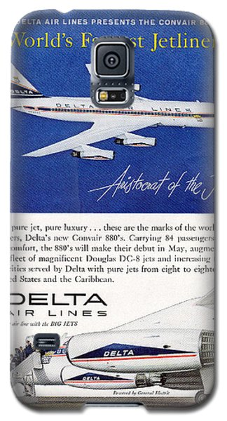 1960s Delta Convair 880 Ad Galaxy S5 Case