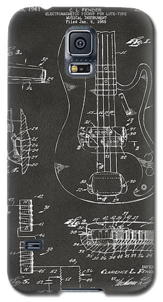 1961 Fender Guitar Patent Artwork - Gray Galaxy S5 Case by Nikki Marie Smith