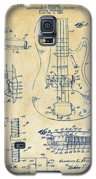 1961 Fender Guitar Patent Artwork - Vintage Galaxy S5 Case