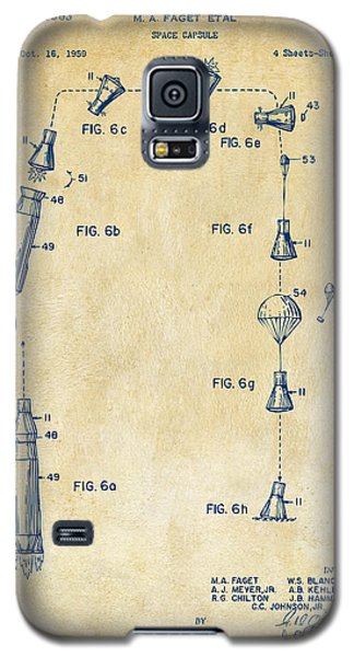 1963 Space Capsule Patent Vintage Galaxy S5 Case by Nikki Marie Smith
