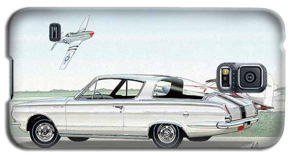 1965 Barracuda  Classic Plymouth Muscle Car Galaxy S5 Case