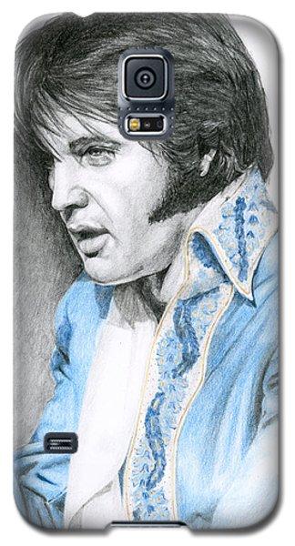 1970 Blue Brocade Suit Galaxy S5 Case