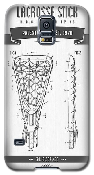 Sport Art Galaxy S5 Case - 1970 Lacrosse Stick Patent Drawing - Retro Gray by Aged Pixel