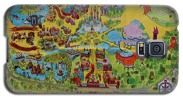 1971 Original Map Of The Magic Kingdom Galaxy S5 Case by Rob Hans