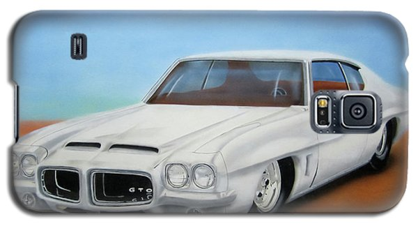 Galaxy S5 Case featuring the painting 1972 Pontiac Gto by Thomas J Herring