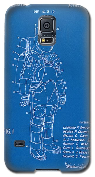 Space Ships Galaxy S5 Case - 1973 Space Suit Patent Inventors Artwork - Blueprint by Nikki Marie Smith