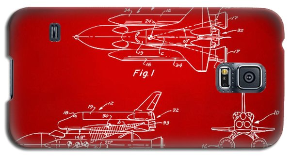 Space Ships Galaxy S5 Case - 1975 Space Shuttle Patent - Red by Nikki Marie Smith