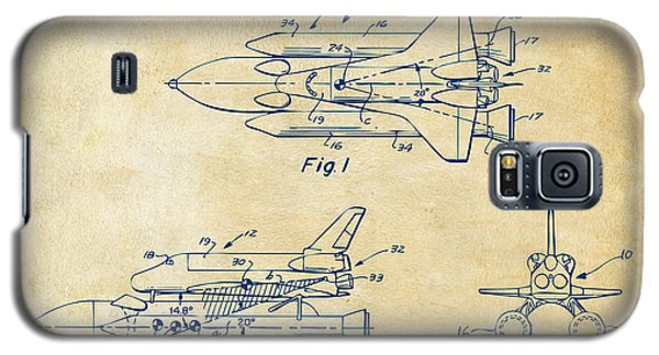 Space Ships Galaxy S5 Case - 1975 Space Shuttle Patent - Vintage by Nikki Marie Smith