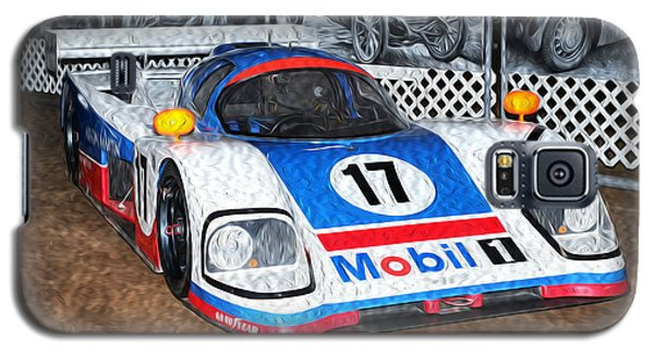 Galaxy S5 Case featuring the painting 1989 Aston Martin Amr1/4 by Boris Mordukhayev