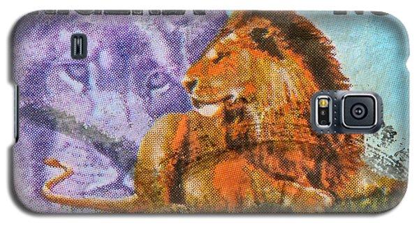 1993 Nigerian Lion Stamp Galaxy S5 Case by Bill Owen
