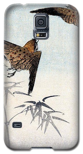 19th C. Japanese Sparrows Galaxy S5 Case by Historic Image