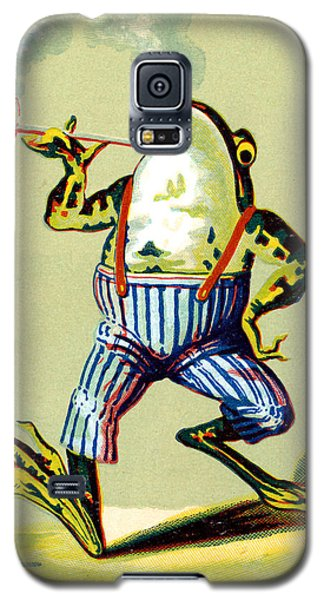 19th C. Pipe Smoking Frog Galaxy S5 Case by Historic Image