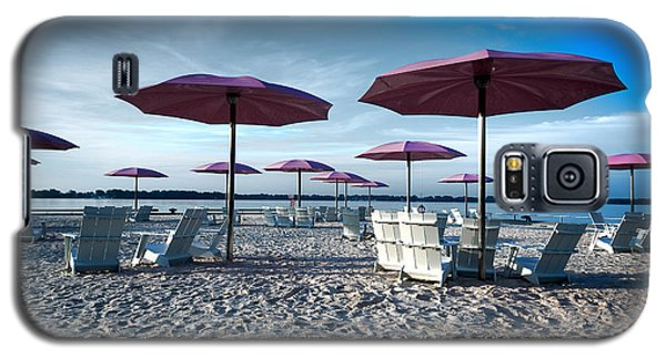 Umbrellas On The Beach Galaxy S5 Case