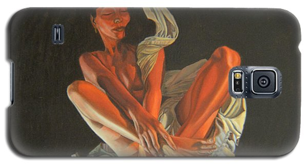 Galaxy S5 Case featuring the painting 2 30 Am by Thu Nguyen