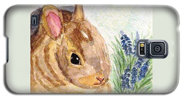 Galaxy S5 Case featuring the painting A Baby Bunny by Angela Davies