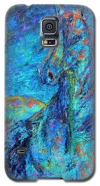 Galaxy S5 Case featuring the painting Abstract Arabian  by Jennifer Godshalk