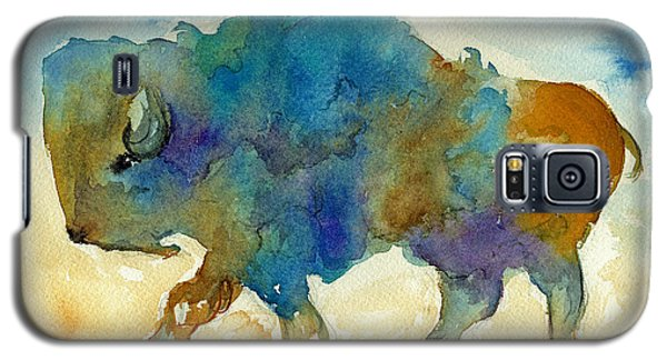 Galaxy S5 Case featuring the painting Abstract Buffalo by Nan Wright