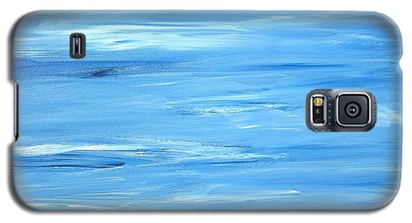 Galaxy S5 Case featuring the painting Abstract Landscape by Susan  Dimitrakopoulos